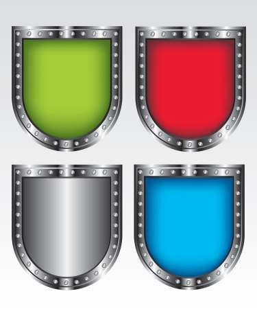 Shields set icon illustration Vector