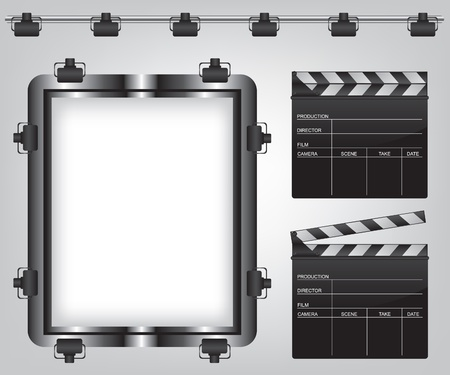 Movie equipment illustration Vector