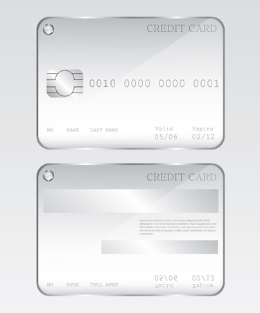 Credit card glass illustration Vector