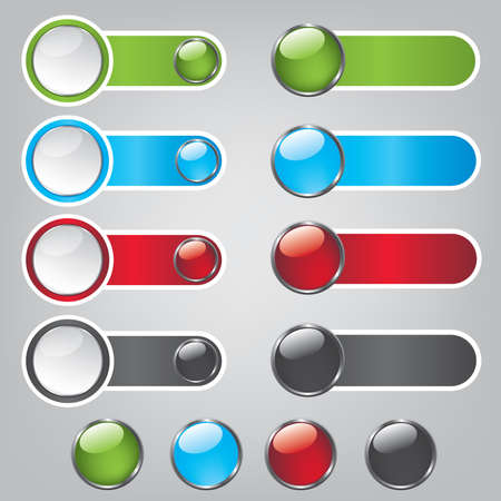 Web bubble icons Vector