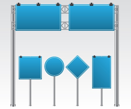 road to success: Road sign illustration