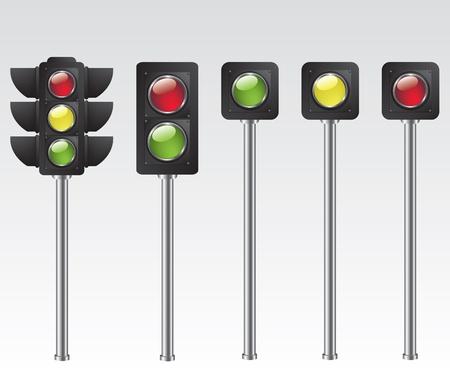 Traffic light illustration Vector
