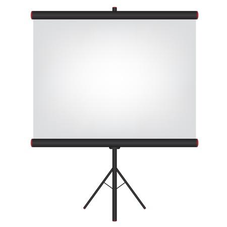 projector screen: Proiettore schermo nero illustrazione
