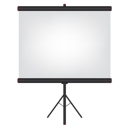 movie projector: Projector screen black illustration Illustration