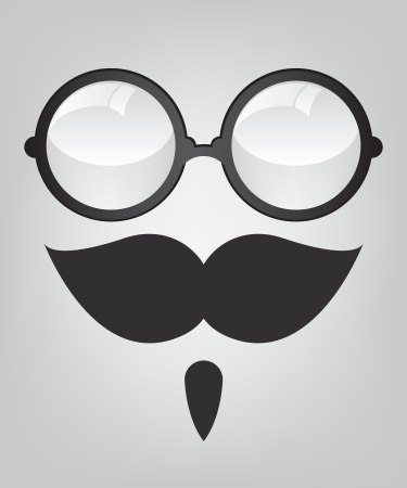 Funny mask retro sunglasses and mustache Illustration