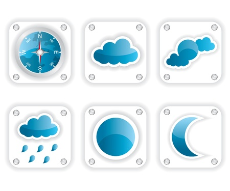 Weather icons illustration Stock Vector - 15557295