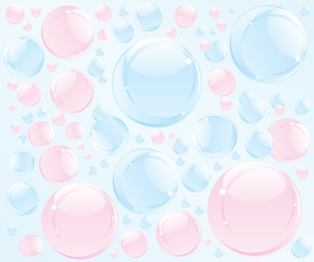 bubble bath: Abstract bubble soap illustration