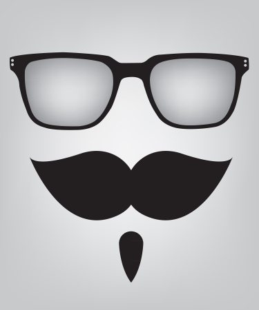 Funny mask sunglasses and mustache Illustration