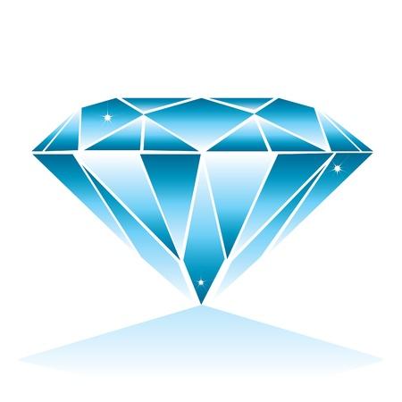 ダイヤモンド: ダイヤモンドの図  イラスト・ベクター素材