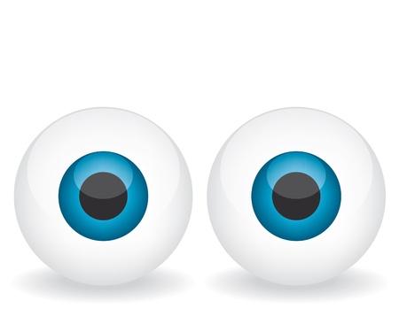 Blue eyes illustration Stock Vector - 18285926