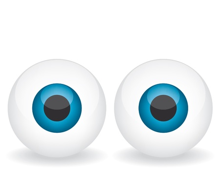 Niebieskie oczy ilustracji