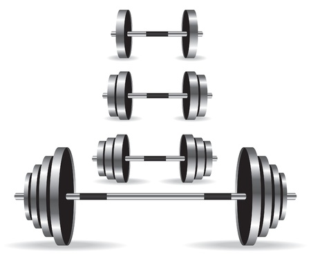 Weights collection illustration Illustration
