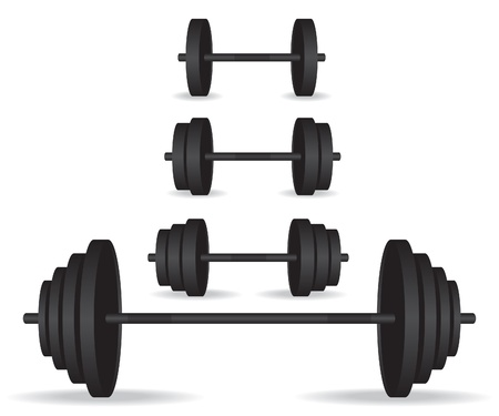 Weights black collection illustration Stock Vector - 19088138