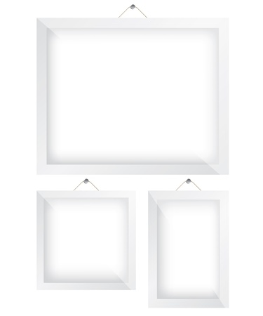 Frame white illustration Stock Vector - 20203137