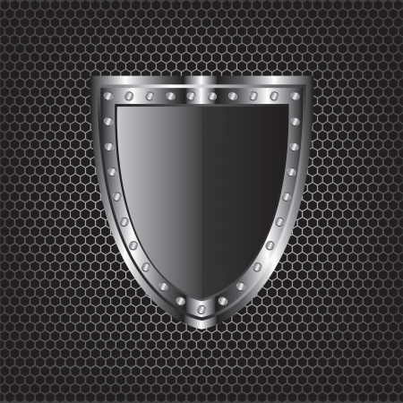 Metal textures and shield  Illustration