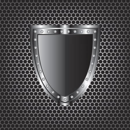 Metal tekstury i tarcza