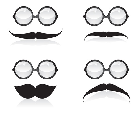 Mustache and sunglasses illustration Vector