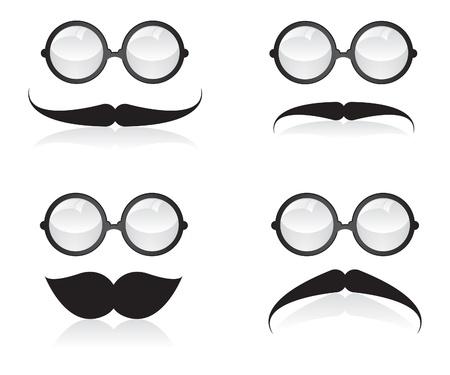 Mustache and sunglasses illustration Stock Vector - 20862893