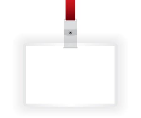 expositor: Tarjeta de identificaci�n de la ilustraci�n en blanco Vectores