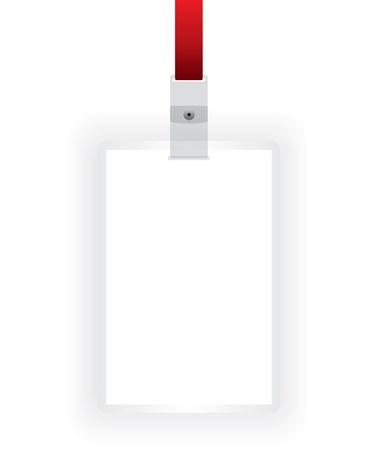 expositor: Blanco tarjeta de identificación