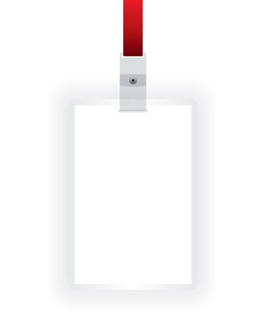 cardholder: Identification card blank