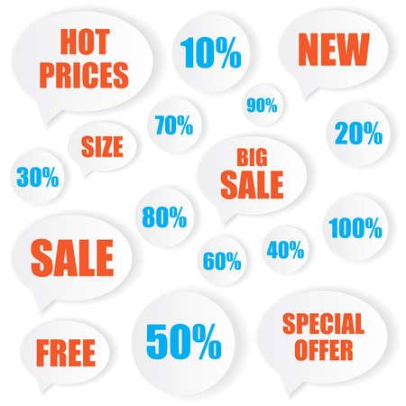Sale label stickers Vector
