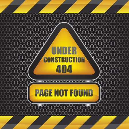 file not found: 404 error under construction