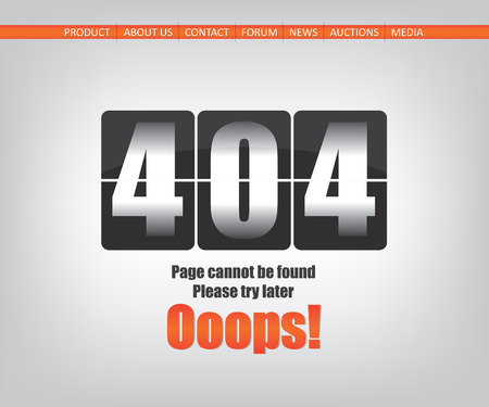 ooops: 404 error page Illustration