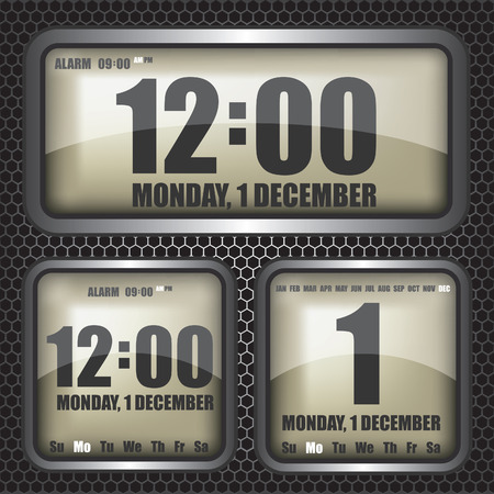 count down: Retro digital clock illustration