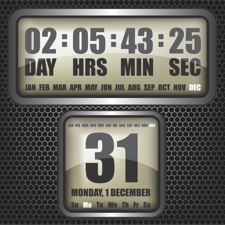 count down: Countdown timer on octagon background