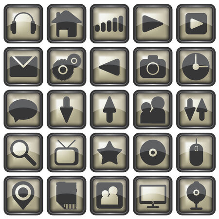 Set of web icons illustration Vector