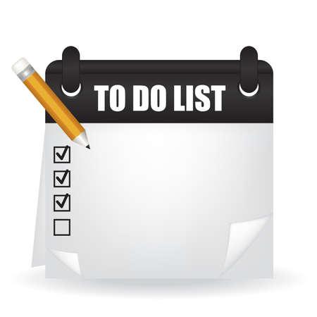 event planning: To do list illustration