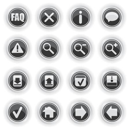 Web symbol icons Vector