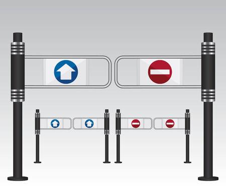 Znak wejście w centrum handlowym