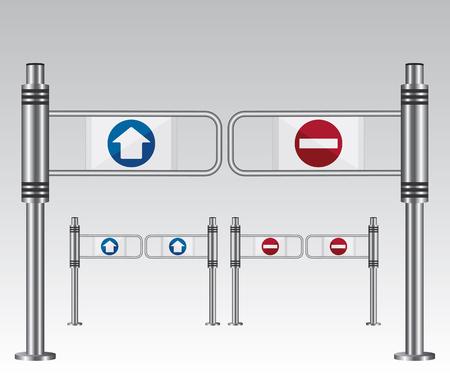 Eingangsschild in einem Einkaufszentrum Standard-Bild - 26052047