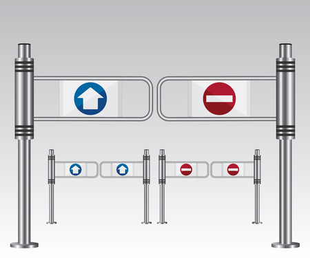 Entrance sign in a mall Illustration