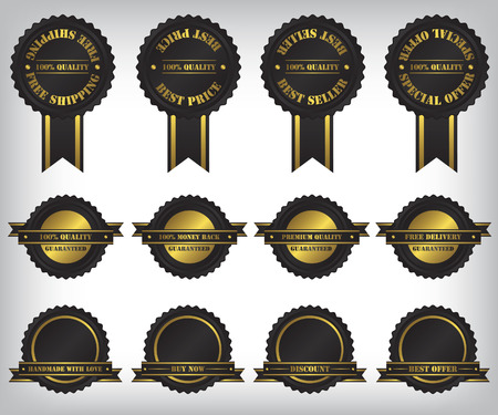 Sale badges and labels illustration Stock Vector - 26044516