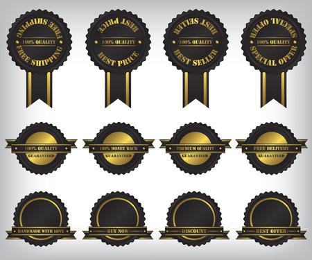 Sale badges and labels illustration