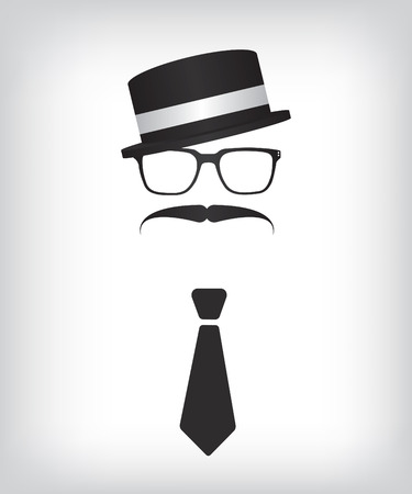 black bow: Hipster with tie and glasses