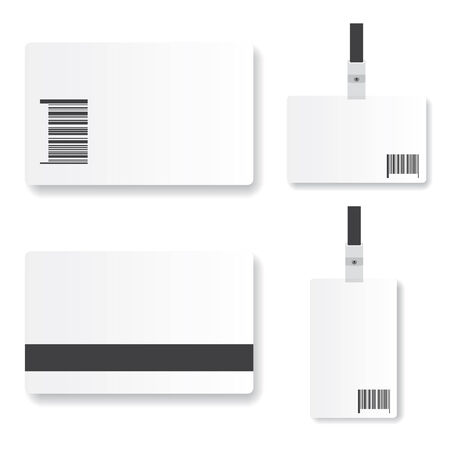 cardholder: Blank  id card illustration