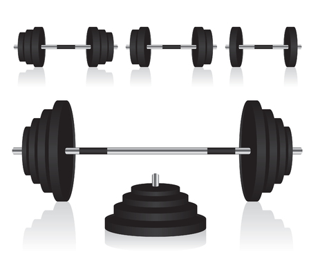 Set of dumbbells weights Ilustracja