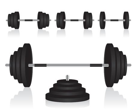 Set of dumbbells weights Illustration