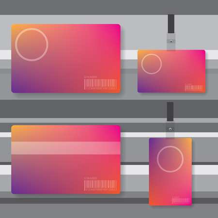 Id card abstract illustration Иллюстрация