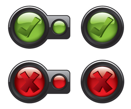 Check mark icon buttons Illustration