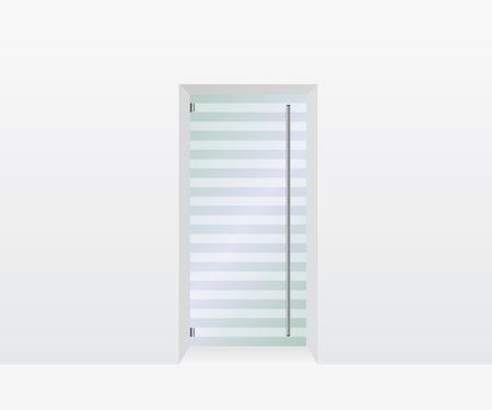 forepart: Glass door illustration