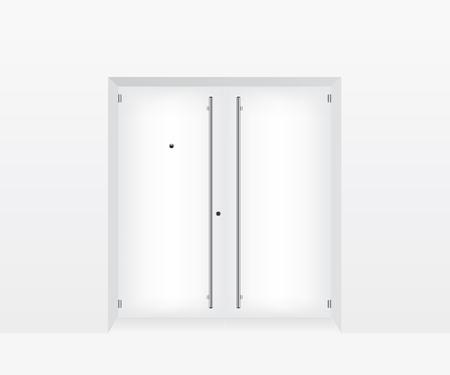 forepart: White door illustration Illustration