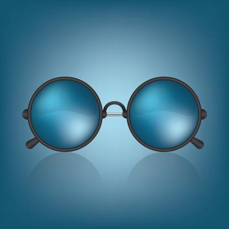 wayfarer: Retro blue sunglasses