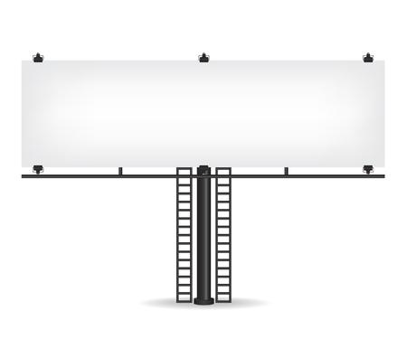Blank black billboard Illustration