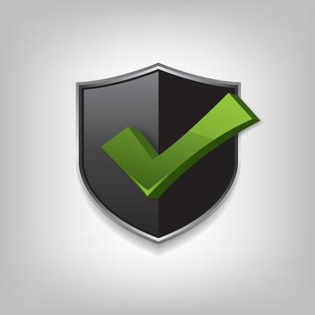 safety check: Empty black shield check mark
