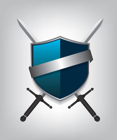 shield and sword: Swords and shield Illustration